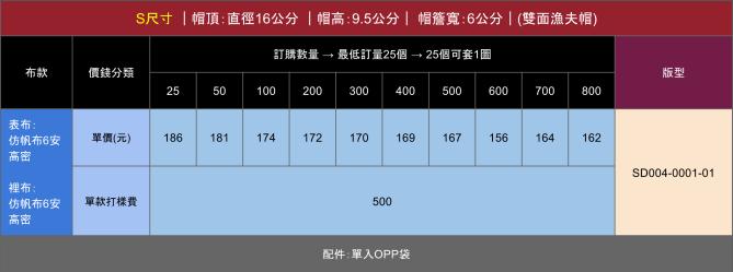 SD004-0001 漁夫帽1