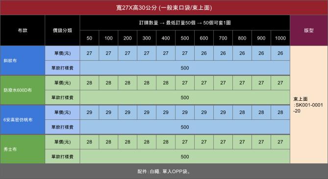 SK001-0001 一般束口袋4